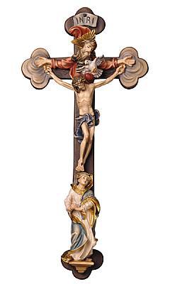 Kruzifix 'Heilige Dreifaltigkeit', Holz