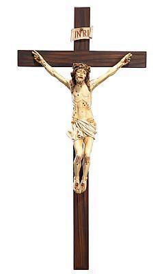 Kruzifix 'leidender Jesus', Holz
