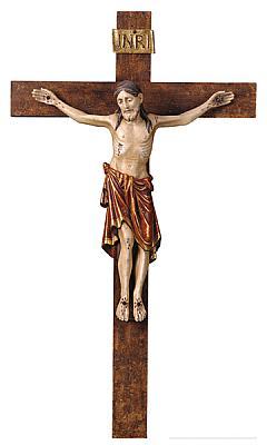 Kruzifix romanisch, Holz