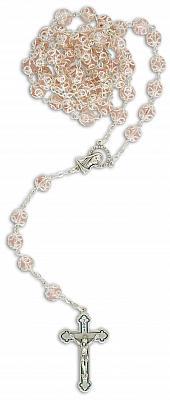 Rosenkranz verzierte Perle, rosa (Rosa)