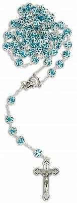 Rosenkranz verzierte Perle, türkis (Türkis)