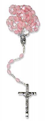 Rosenkranz ovale Perle rosa