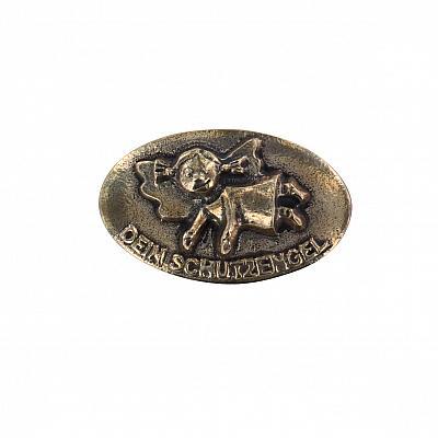 Handschmeichler 'Fröhlicher Schutzengel', Bronze