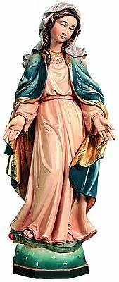 Madonna Gnadenspenderin im blauen Umhang, Holz