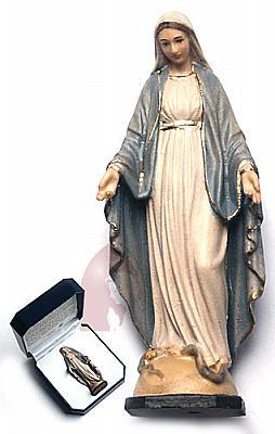 Madonna Gnadenspenderin im Etui, Holz