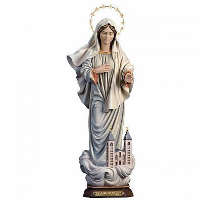 Madonna 'Kraljica Mira', mit Kirche und Heiligenschein