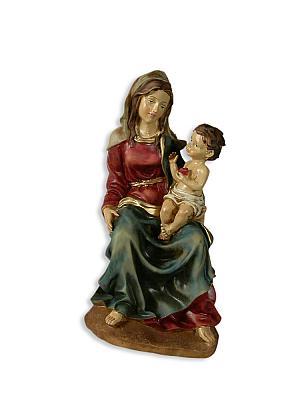 Madonna mit Jesuskind sitzend