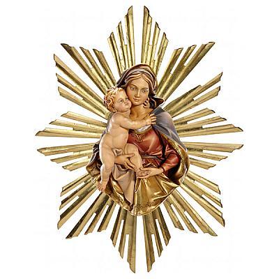 Madonna 'strahlende Güte', Holz zum hängen
