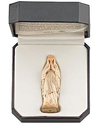 Madonna von Lourdes für unterwegs im Etui