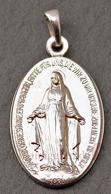 Medaille Gnadenspenderin, echt silber
