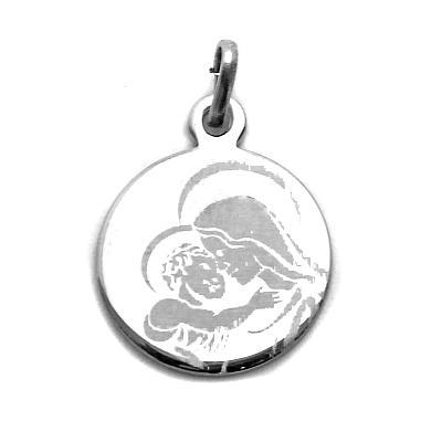 Medaille 'Maria', rhodiniert