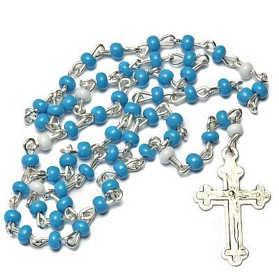 Miniatur-Rosenkranz blau