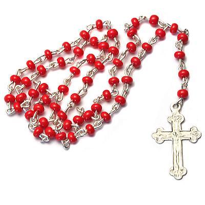 Miniatur-Rosenkranz rot