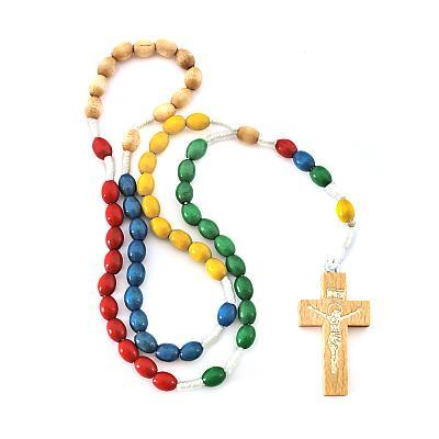 Missionsrosenkranz 5 Farben, oval