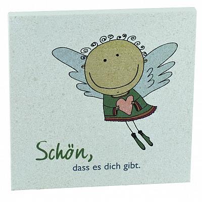 Naturstein Engel 'Schön, dass es dich gibt'