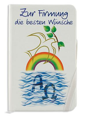 Notizbuch zur Firmung 'die besten Wünsche'