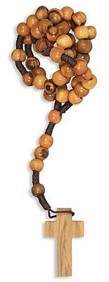 Olivenholz-Rosenkranz glatte Perle