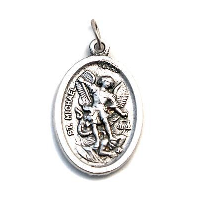 Medaille Erzengel Michael & Schutzengel