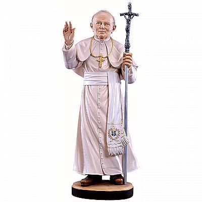 Papst Johannes Paul II. aus Holz