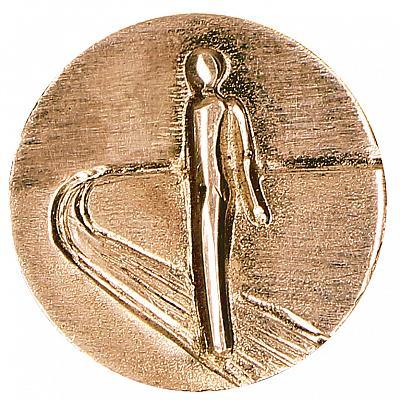 Portemonnaie-Plakette 'Schütze mich auf meinem Weg', Bronze