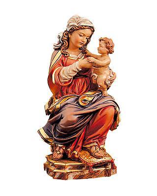 Prager Madonna thronend, Holz