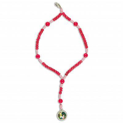 Rosenkranz-Anhänger Schutzengel, rosa (Rosa)