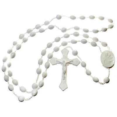 Rosenkranz aus Kunststoff, weiß (Weiß)