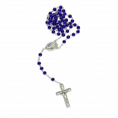 Rosenkranz 'Maria Empfängnis', blau mit Medaille als Herzstück (Blau)