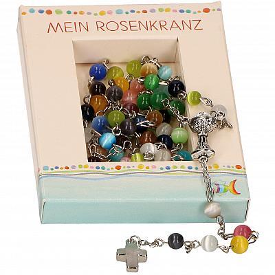 Rosenkranz Erstkommunion, bunt inkl. Schachtel