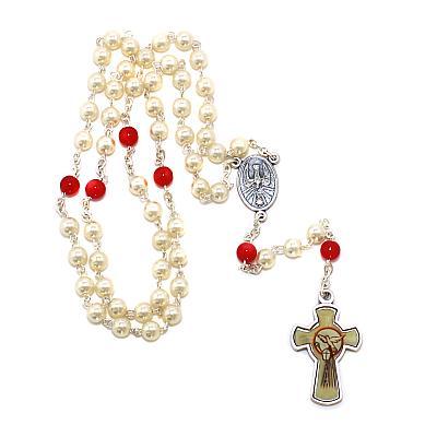 Rosenkranz 'Heiliger Geist', weiß/rot
