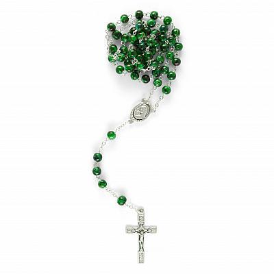 Rosenkranz marmorierte Glasperle, grün