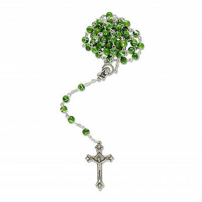 Rosenkranz marmoriert, grün (Grün)