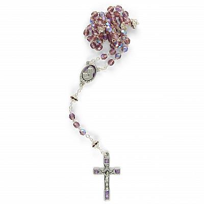 Rosenkranz 'Madonna mit Kind', altrosa schillernd (Altrosa)