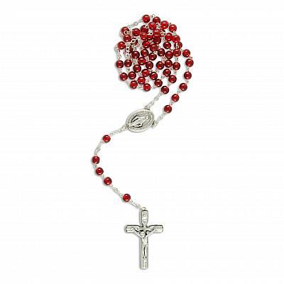 Rosenkranz 'Maria Empfängnis', mit Medaille als Herzstück, rot (Rot)