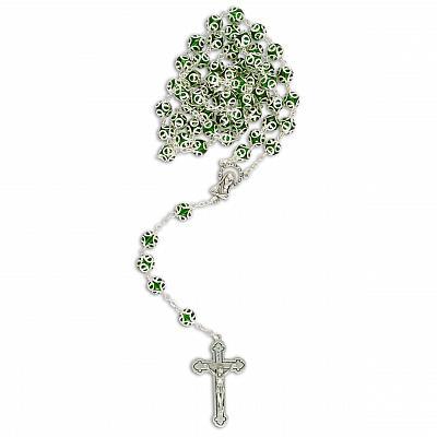 Rosenkranz verzierte Perle, grün (Grün)