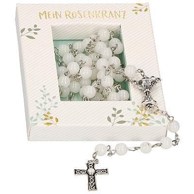 Rosenkranz zur Erstkommunion, weiß inkl. Schachtel