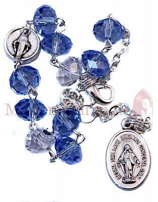Rosenkranzarmband, kristall blau