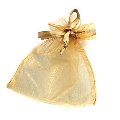 Rosenkranzbeutel aus Organza, goldfarben (Goldfarben)
