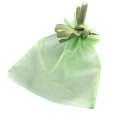 Rosenkranzbeutel aus Organza, hellgrün (Hellgrün)