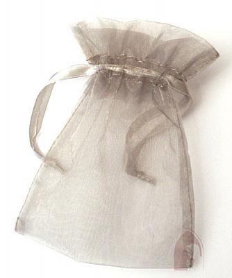 Rosenkranzbeutel aus Organza, silberfarben (Silberfarben)