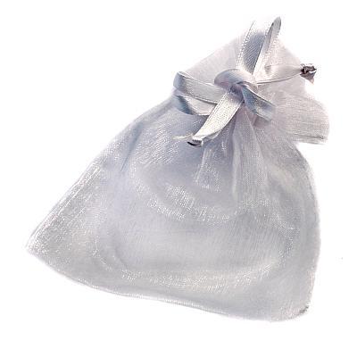 Rosenkranzbeutel aus Organza, weiß (Weiß)