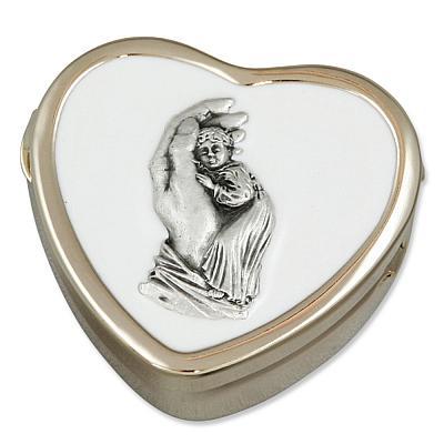 Rosenkranzetui Herzform beschützende Hand