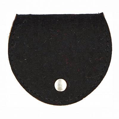Rosenkranztäschchen Filz, schwarz (Schwarz)