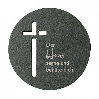 Schieferkreuz 'Der Herr segne und behüte dich'