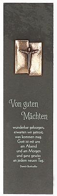 Schieferrelief 'Von guten Mächten' - mit Korpusplakette aus Bronze