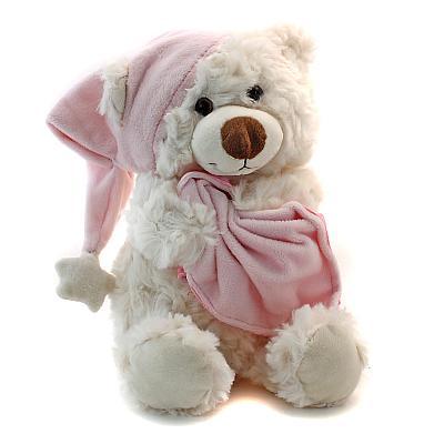 Schlafbärchen sitzend rosa