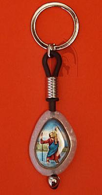 Schlüsselanhänger Christopherus, Stein