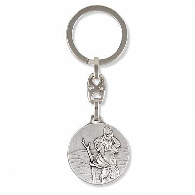 Schlüsselanhänger Christophorus 'Gott schütze dich'