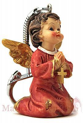 Schlüsselanhänger Engel betend (Betend (rot))