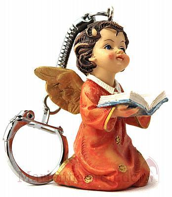 Schlüsselanhänger Engel lesend (Lesend (rot))